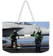 Aviation Boatswain Mates Signal A Clear Weekender Tote Bag