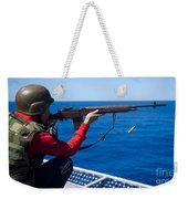 Aviation Ordnanceman Fires An M-14 Weekender Tote Bag