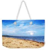 Avon Beach At Mudeford In Dorset Weekender Tote Bag