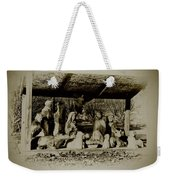 Away In The Manger Weekender Tote Bag by Bill Cannon