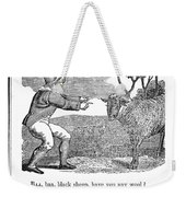 Baa, Baa, Black Sheep, 1833 Weekender Tote Bag by Granger