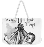 Baby Being Weighed, 1887 Weekender Tote Bag