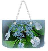 Baby Blue Lace Cap Hydrangea Weekender Tote Bag