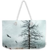 Baby Buggy By Tree With Nest And Birds Weekender Tote Bag by Jill Battaglia