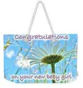 Baby Girl Congratulations Greeting Card - Oxeye Daisies Weekender Tote Bag