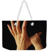 Baby Grasps Mothers Hand Weekender Tote Bag
