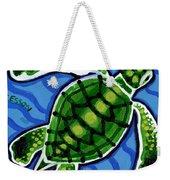 Baby Green Sea Turtle Weekender Tote Bag