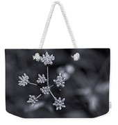 Baby Queen Anne's Lace Monochrome Weekender Tote Bag