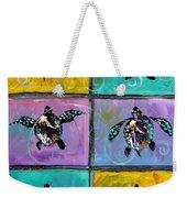 Baby Sea Turtles Six Weekender Tote Bag by J Vincent Scarpace