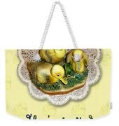 Baby Shower Invitation - Yellow Ducklings Figurine Weekender Tote Bag
