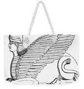 Babylonian Sphinx Weekender Tote Bag