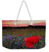 Bachelor Buttons And Poppies Weekender Tote Bag
