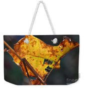Back-lit Golden Leaf Weekender Tote Bag