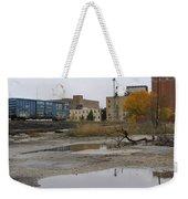Back Of Warehouse Train 1 Weekender Tote Bag