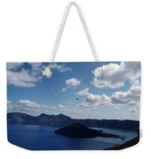 Backside Of Crater Lake Weekender Tote Bag