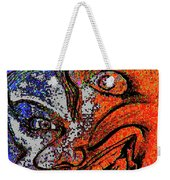 Backward Face Weekender Tote Bag