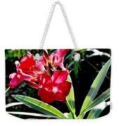 Backyard Red Beauty Weekender Tote Bag