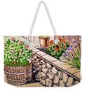 Backyard Sketchbook Project Down My Street Weekender Tote Bag by Irina Sztukowski