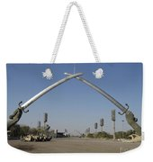 Baghdad, Iraq - Hands Of Victory Weekender Tote Bag by Terry Moore