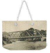 Bailey Bridge Over Willowemoc River Weekender Tote Bag