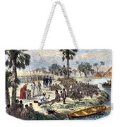 Baker Liberating Slaves In Africa, 1869 Weekender Tote Bag by Photo Researchers
