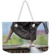 Balance On Railroad Tracks Weekender Tote Bag