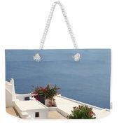 Balcony Oia Santorini Greek Islands Weekender Tote Bag