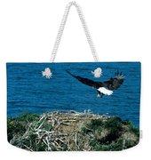 Bald Eagle And Chicks Weekender Tote Bag