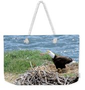 Bald Eagle Calling Weekender Tote Bag