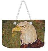 Bald Eagle Embroidered Weekender Tote Bag