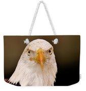 Bald Eagle Looking In Weekender Tote Bag