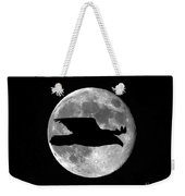 Bald Eagle Moon Weekender Tote Bag
