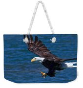 Bald Eagle On The Hunt Weekender Tote Bag