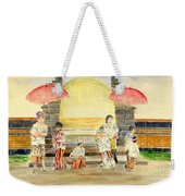 Balinese Children In Traditional Clothing Weekender Tote Bag