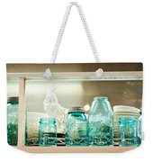 Ball Jars And White Rooster Weekender Tote Bag
