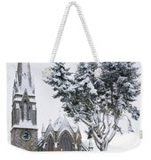 Ballater Church In Snow Weekender Tote Bag
