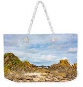 Ballintoy Bay Basalt Rock Weekender Tote Bag