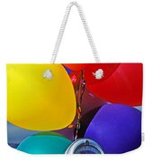 Balloons Tied To Parking Meter Weekender Tote Bag