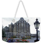 Banff Springs Hotel In The Canadian Rocky Mountains Weekender Tote Bag