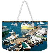 Bar Harbor Boat Dock Weekender Tote Bag