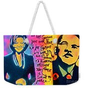 Barack And Michelle Weekender Tote Bag