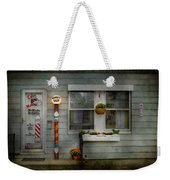 Barber - Belvidere Nj - A Family Salon Weekender Tote Bag by Mike Savad