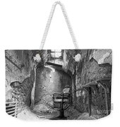 Barber - Chair - Eastern State Penitentiary - Black And White Weekender Tote Bag