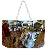 Barber Chair With Child Booster Seat Weekender Tote Bag