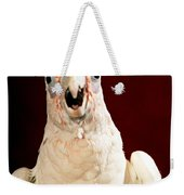 Bare Eyed Cockatoo Speaks Weekender Tote Bag