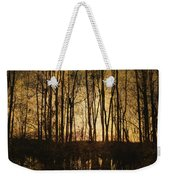 Fall Trees On A Lake Weekender Tote Bag