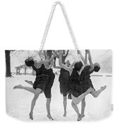 Barefoot Dance In The Snow Weekender Tote Bag