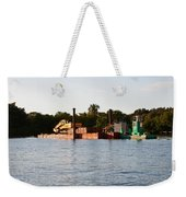 Barge In Naples Bay Weekender Tote Bag