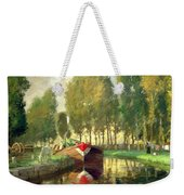 Barge On A River Normandy Weekender Tote Bag
