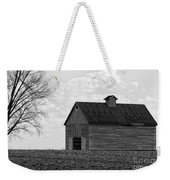 Barn And Tree In Black And White Weekender Tote Bag